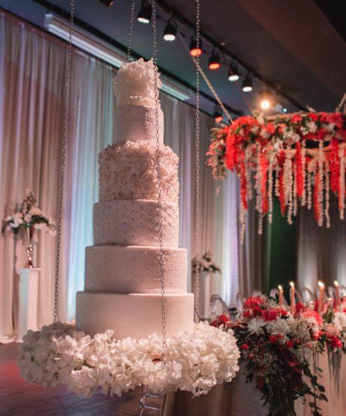 Hanging Cake & Custom Floral Chandelier