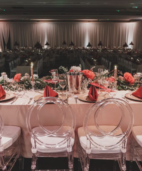 From Head Table/Stage down into room